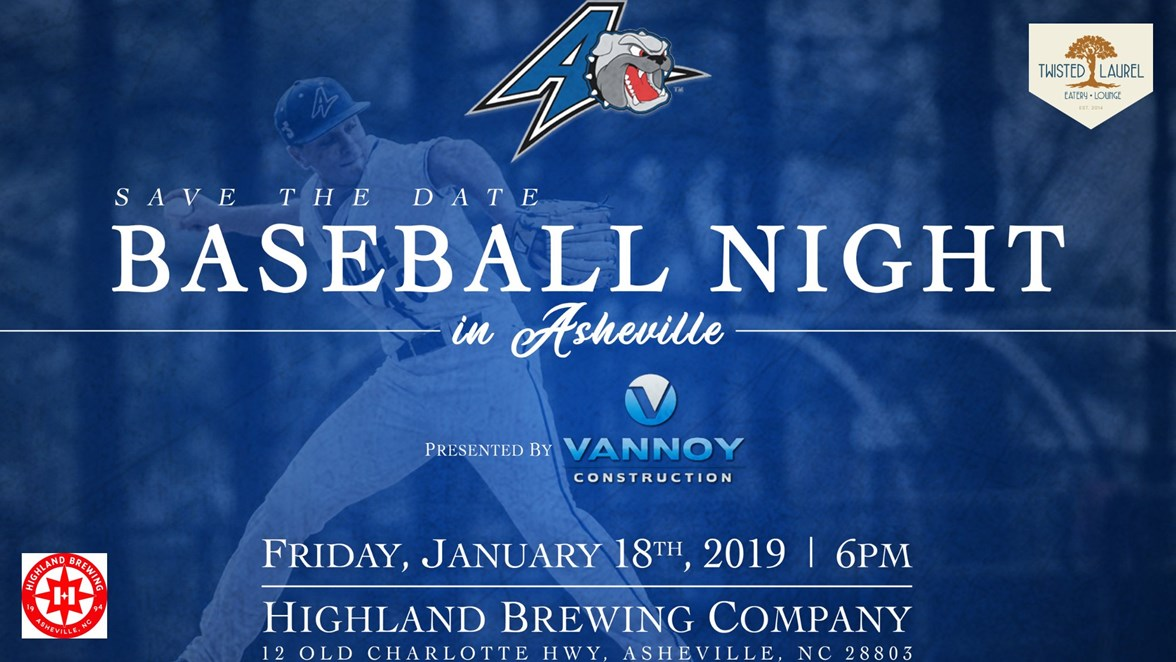 save the date baseball night in asheville to be held friday jan