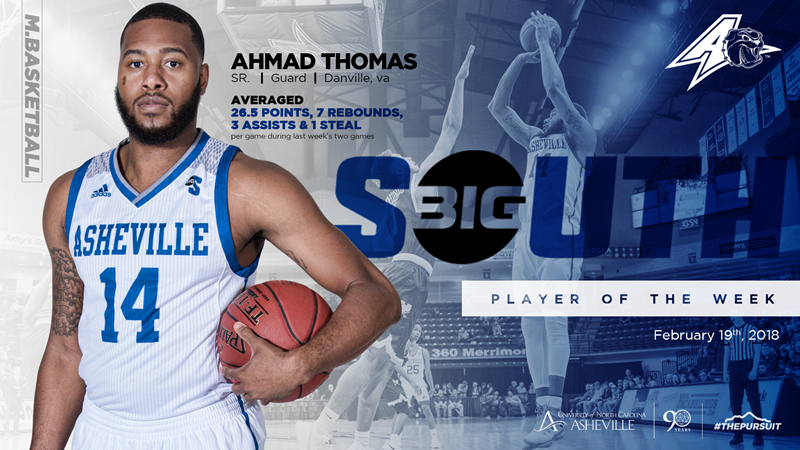 finest selection 6c0f3 c6dfa Thomas Named Big South Men's Basketball Player of the Week ...